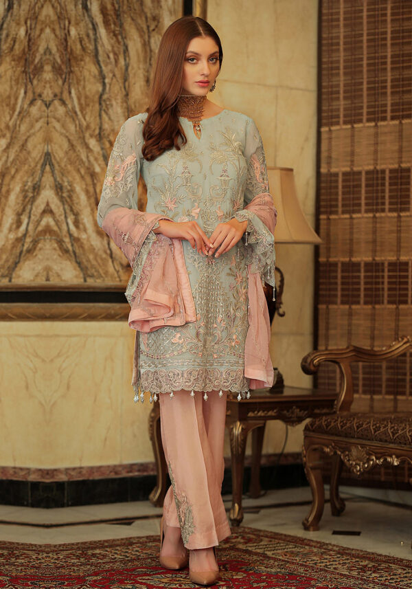 Green Embroidered Pakistani Style Suit