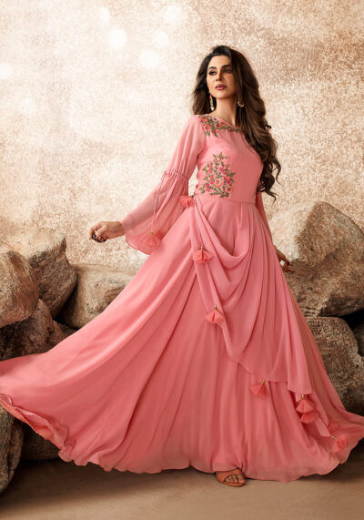 Light Pink Embroidered Gown