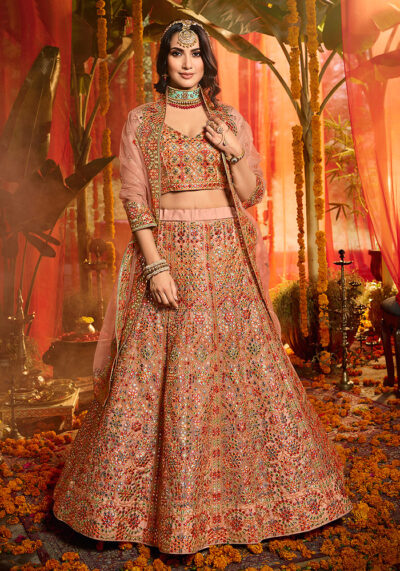 Mauve Heavy Embroidered Lehenga