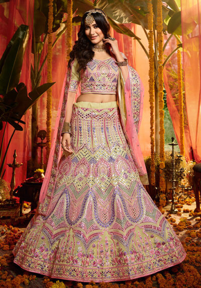 Offwhite Heavy Embroidered Lehenga