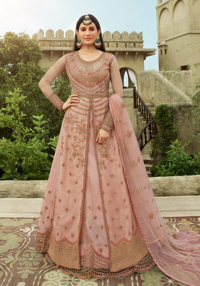 Light Pink Embroidered Lehenga Anarkali