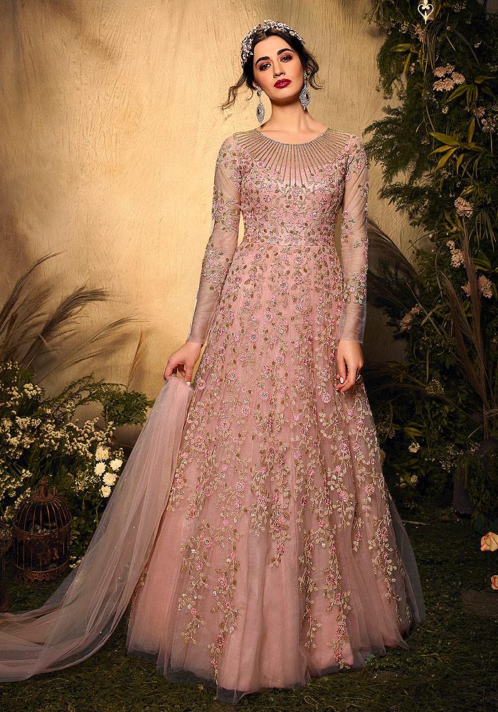 Light Pink Heavy Embroidered Anarkali